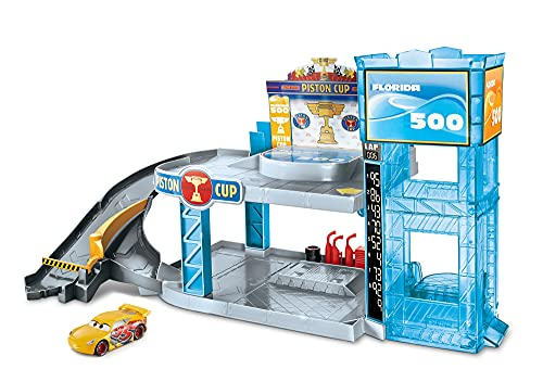 Disney Pixar Cars Piston Cup Garage With Elevator