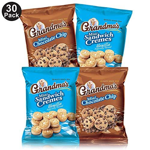 Grandma's Mini Cookies, 2 Flavor Variety Pack of 30