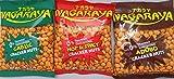 Nagaraya Cracker Nuts Variety Bundle - 2 packs of Adobo, 2 packs of Garlic, 2 packs of Hot and Spicy - Total of 6 Packs