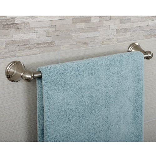 AmazonBasics AB-BR810-SN Towel Bar, 18 Inch, Satin Nickel