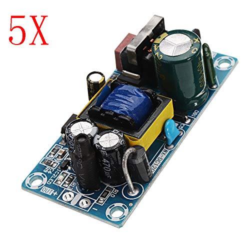 ILS - 5 Piezas AC-DC 5V 2A Fuente alimentación conmutada Junta ondulación Baja Potencia Tarjeta alimentación 10W módulo conmutación