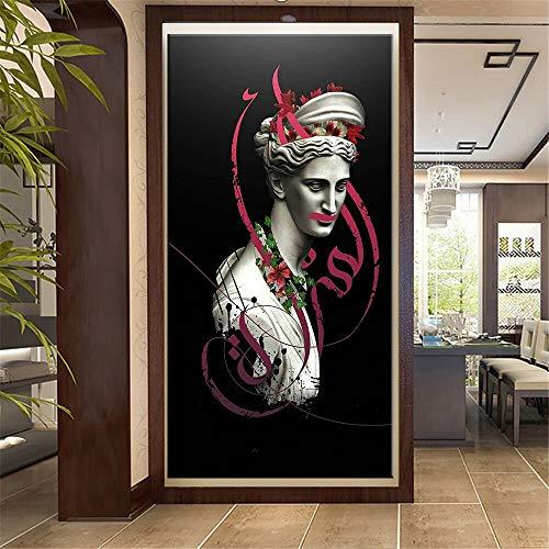 wZUN Figura renacentista Escultura Escultura Lienzo Pintura Europa Cartel Impresiones Arte de la Pared Cuadros Abstractos 60x120 Sin Marco