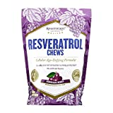 Reserveage, Resveratrol Chews, Anti Wrinkle Support to Protect Against the Aging Effects of Free Radicals for Youthful, Smooth Skin with Organic Red Grape and Acai, Bordeaux Berry, 30 Chews