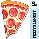 BigMouth Inc. Pizza Slice Fuzzy Blanket - 5 ft. Plush Throw Blanket Shaped Like a Giant Pizza Slice, Perfect for Cold Nights, Camping, and More