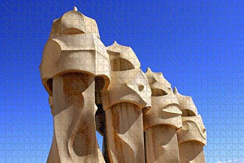 España Mila House Barcelona Rompecabezas para adultos 1000 piezas Rompecabezas de madera 3d para adultos