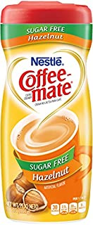 COFFEE MATE Sugar Free Hazelnut Powder Coffee Creamer 10.2 oz. Canister (Pack of 6)