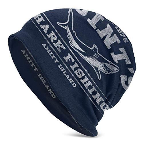 Jaws Quints Shark Fishing Beanie Hat Unisex Adult Hat, Cap, Balaclava, Half Balaclava Black