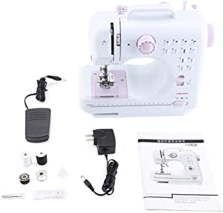 Mini máquina de coser, mini máquinas de coser Hilos dobles automáticos eléctricos para proyectos de decoración del hogar y construcción de ropa CN Plug 110V-220V