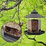 GFD Caja De Vidrio Transparente Acrílico Jaula De Pájaros Zoológico Pájaro Estante De Comida para Mascotas Techo Hexagonal Suspensión Jardín Panorámico Decoración del Patio Comedero para Pájaros