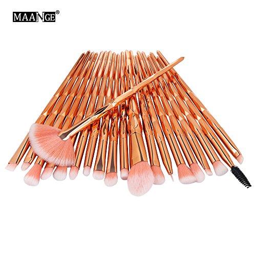kingko® 20 Pièces Pinceaux de Maquillage Set de Premium Coloré Fondation Mélange Blush Yeux Visage Poudre Brosse Cosmétiques (B)