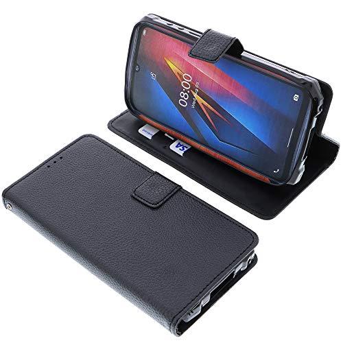 foto-kontor Tasche für Ulefone Armor 8 Book Style schwarz Schutz Hülle Buch