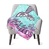 Soft Baby Blanket Mermaid Tail Girl Newborn Small Kid Throw Washable Fluffy Warm Crib Blankets Infant Toddler Bedding Swaddle 30 X 40 Inch