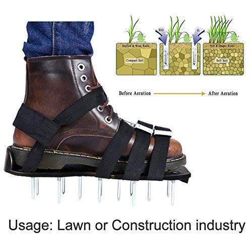 TENT-Z Rasenlüfter Schuhe Rasenbelüfter-Nagelschuhe Rasenbelüfter Rasenlüfter Rasen Vertikutierer Rasen Nagelschuhe für Haus und Garten