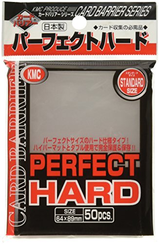 10 Packs//total 1000 Sheets Made in Japan KMC Perfect Size Trading Card Sleeves Deck Protectors Standard Size 64x89mm 10 Sets - Japan Import