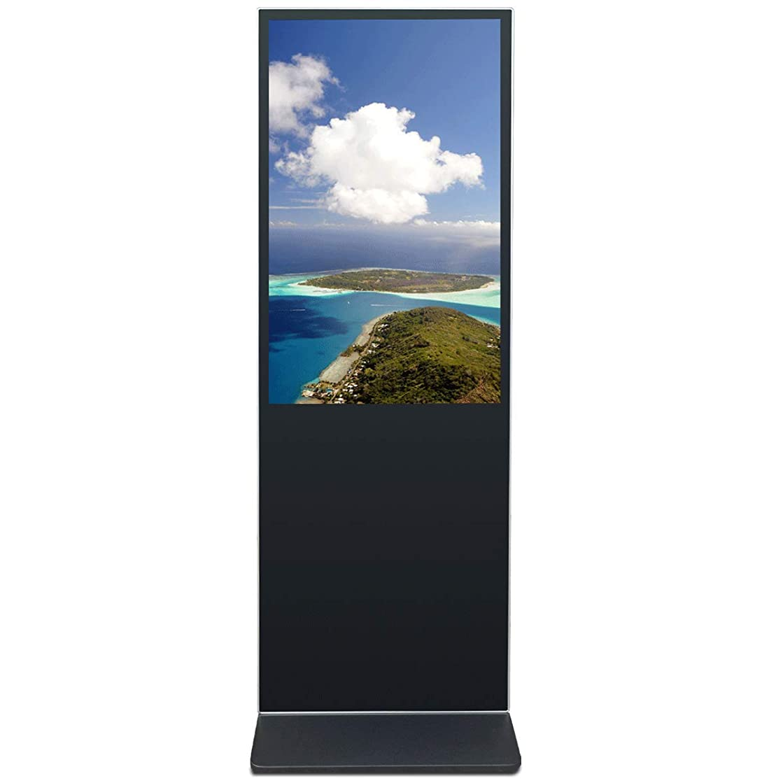 交じる視聴者セント49インチの自立型デジタルサイネージ HD LCD広告ディスプレイ スマート分割画面表示 水平ディスプレイ