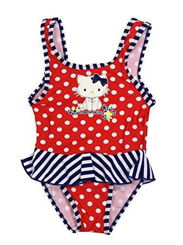 Hello Kitty Official Baby-Girls Swimsuit 12 Months Red