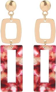 Acrylic Earrings Women's Cellulose Acetate Earrings Geometric Rectangle Link Dangle Earrings