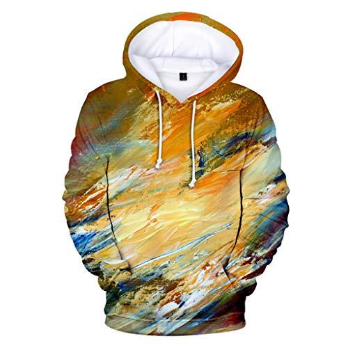 IFOUNDYOU 3D Hoodie Herren Kapuzenpulli Ölfarbe, Kapuzenjacke,Oversize Sweatshirt, Mode Oberseite, 3D Print Kapuzenpullover