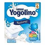 Postre lácteo - NESTLÉ YOGOLINO Natural - Para bebés a partir de 6 meses - Paquete de 4 tarrinas...