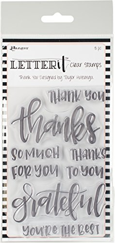 Ranger Letter It Clear Stamps, Thank You