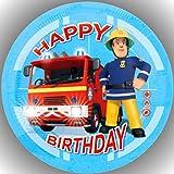 Fondant Tortenaufleger Tortenbild Geburtstag Feuerwehrmann Sam T60