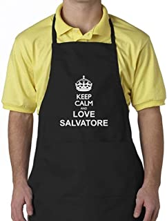 """Eddany Keep calm and love Salvatore Apron 24"""" wide by 30"""" long."""