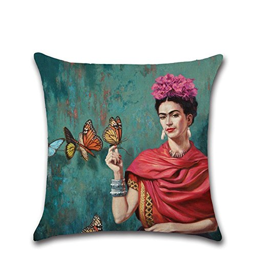 NaroFace Nmber-mm - Federa per cuscino, 45 x 45 cm, motivo floreale, erba