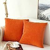 MIULEE 2er Set Granulat Kordsamt Soft Soild dekorative Platz Dekokissen Covers Set Kissen Tasche...