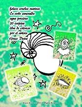 felices conchas marinas En verde esmeralda agua preciosa 20 tarjetas libro de colorear por el artista Grace Divine