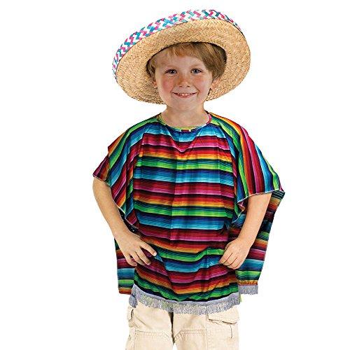 Bristol Novelty - Poncho mexicano para niños