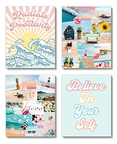 Brooke & Vine VSCO Teen Girl Room Wall Decor Art Prints (UNFRAMED 8 x 10) - Inspirational Wall Art, Motivational Quotes Posters for Kids, Tween Women Office Bedroom, Dorm, Cubicle, Desk (VSCO Girl)