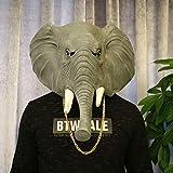 ハロウィーンマスク、象のラバーフードノベルティ動物は、大人と子供のハロウィン仮装パーティーの小道具装飾アニマル帽子用のマスクマスク
