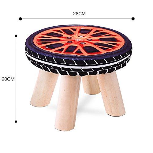 DZX Tabouret en Bois Massif Tissu Art Changer Chaussures Circulaire Petit Banc Créativité Enfants Adultes Canapé Tabouret Fruits Assis Pier,K