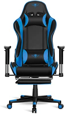Spirit Silla of Gamer Siege Hornet Blue - inclinación/Altura/Brazos Regulables - reposapies
