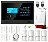 LKM security M2EPLUS Kit Antifurto Allarme Casa Wireless, Controllabile da Cellulare con App Gratuita,...