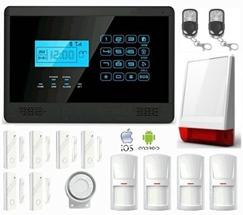 LKM security M2EPLUS Kit Antifurto Allarme Casa Wireless, Controllabile da Cellulare con App Gratuita, Nero