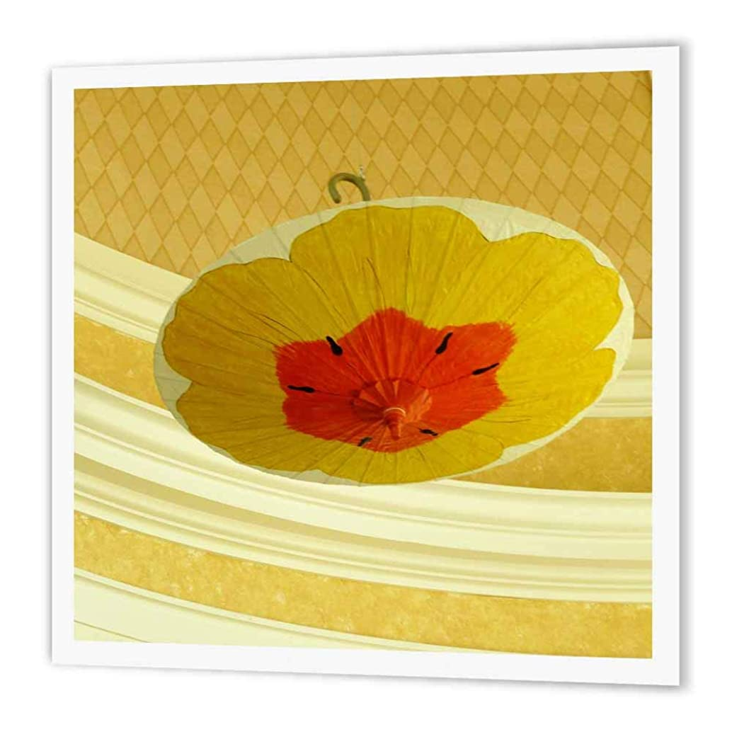 3dRose ht_28400_3 Yellow Ceiling Umbrella-Iron on Heat Transfer Paper for White Material, 10 by 10-Inch