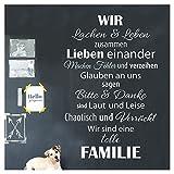 Wandaro W3456 Wandtattoo Spruch Wir sind eine tolle Familie. I weiß 58 x 90 cm I Flur Diele Wohnzimmer Aufkleber selbstklebend Wandaufkleber Wandsticker