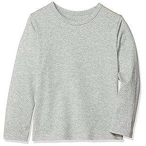 [ベルメゾン] 天竺長袖Tシャツ D24541 ガールズ 杢グレー 日本 100 (日本サイズ100 相当)
