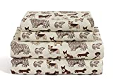 HowPlumb Dog Full Size 4 Piece Sheet Set Microfiber Bedding, Puppy Pet Animal Lover Gift