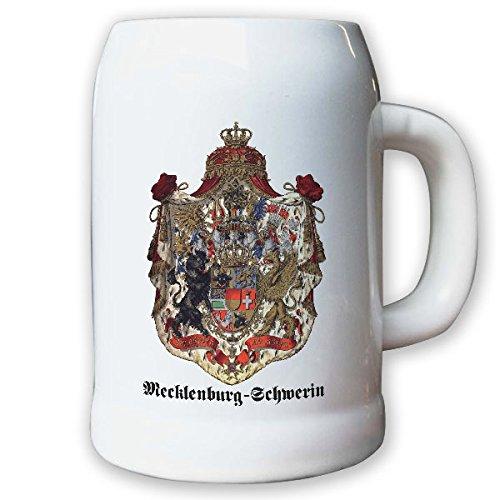 Krug/Bierkrug 0,5l - Mecklenburg-Schwerin Weimarer Republik Landeswappen #9475