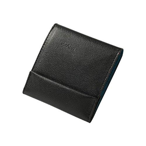 薄い財布 abrAsus(アブラサス) ブラック× ターコイズ