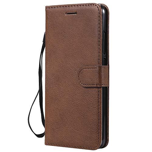 Jeewi Hülle für [Xiaomi Mi 8 Lite] Hülle Handyhülle [Standfunktion] [Kartenfach] [Magnetverschluss] Tasche Etui Schutzhülle lederhülle flip case für Xiaomi Mi8 Lite - JEKT051808 Braun