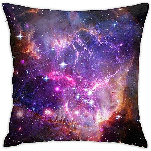 W-wishes Hermosa Escena del Universo con Planetas Fundas de cojín Partículas Suaves Fundas de Cojines