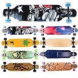 FunTomia Longboard Skateboard Drop Through Cruiser Komplettboard mit Mach1 High