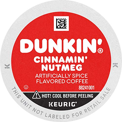 Dunkin' Cinnamin' Nutmeg Flavored Coffee, 88 K Cups for Keurig Coffee Makers