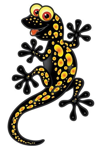 Autoaufkleber Sticker Lizard Eidechse Gecko schwarz Aufkleber