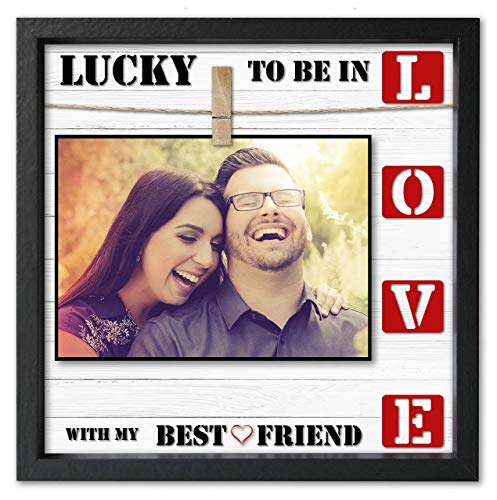 Love Picture Frame 4x6 • 5x7 Anniversary Picture Frame For Wife or Husband. Cleverly Designed Love Photo Frame. Fits All Sizes up to 7x7. Awesome Present For Boyfriend or Girlfriend.