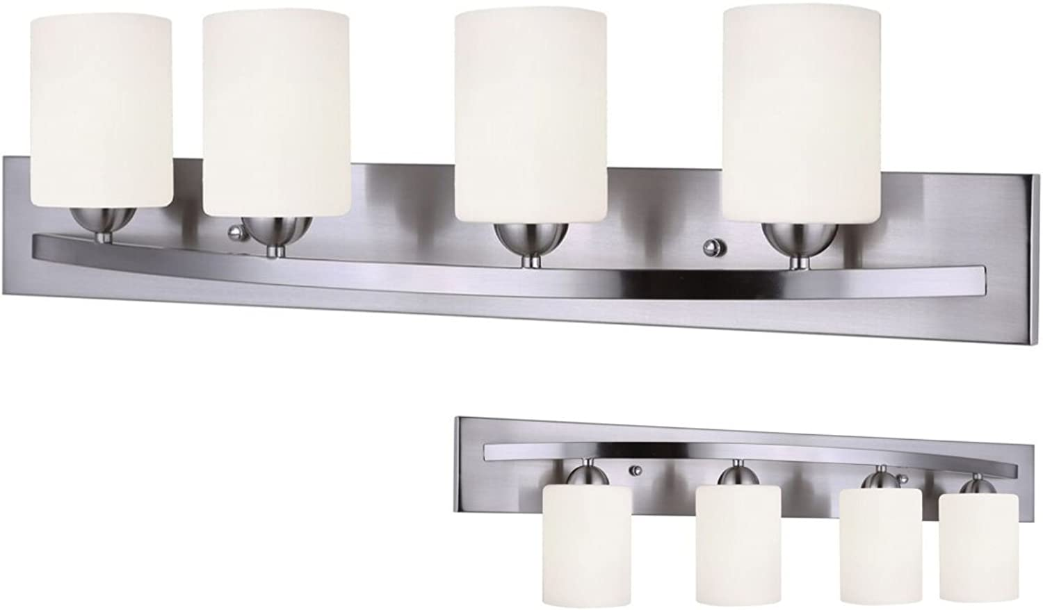 Leria Modern 4-Light Vanity - Nickel