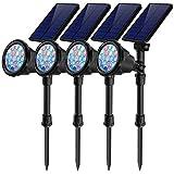 7 Color Changing Solar Spot Lights,Outdoor 18 LEDs Solar Landscape...